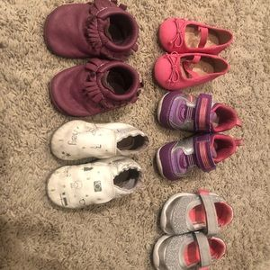 5 pair baby girl shoes size 4